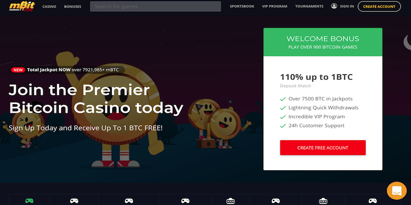 mbit bitcoin casino free spins no deposit